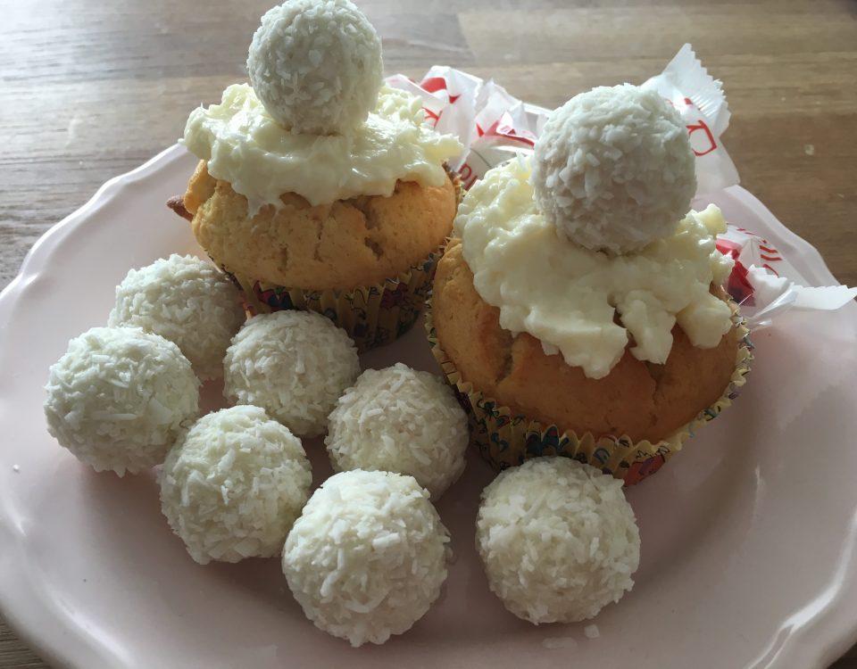 Raffaello, Cupcakes, Thermomix, backen, Essen