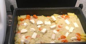 Auflauf mit Möhren und Kartoffeln