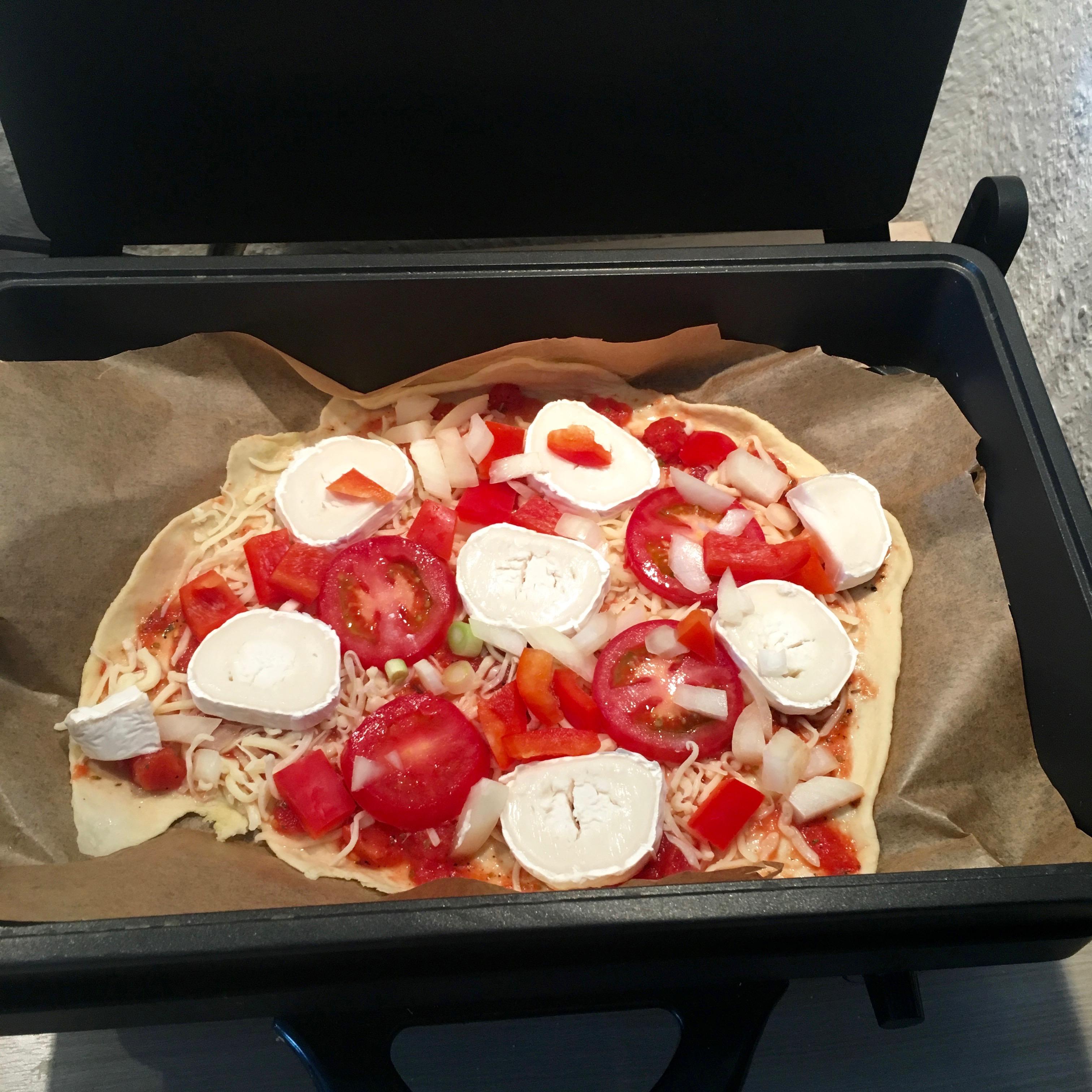 Pizza aus dem Mulex-Grill und dem Thermomix von Vorwerk