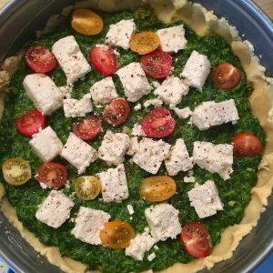 Quiche mit Spinat, Feta und Tomaten aus dem Thermomix ®