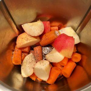 Zutaten Karotten-Salat mit Apfel aus dem Thermomix