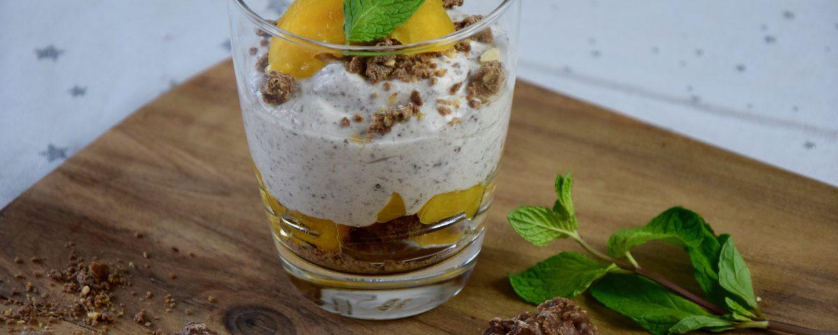 Pfirsich Schokocrossie Dessert