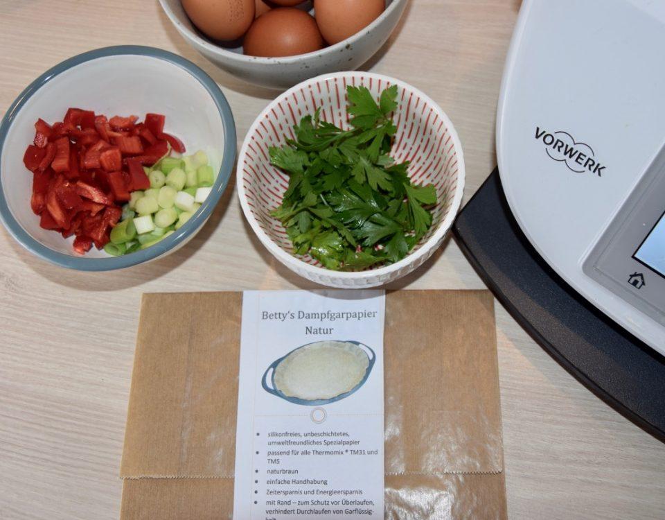 Zutaten Omelette mit Dampfgarpapier
