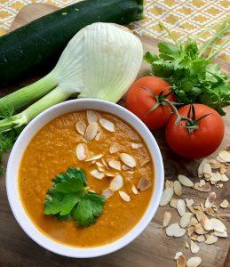 Tomaten-Zucchini-Suppe aus dem Thermomix®